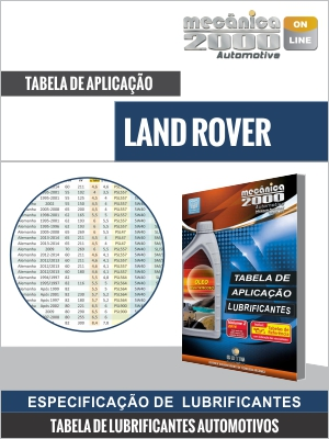 Tabela Lubrificante LAND ROVER
