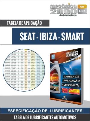 Tabela de aplicação SEAT - IBIZA - SMART